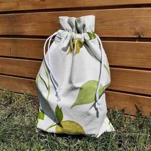 zöld levél mintás kenyeres zsák